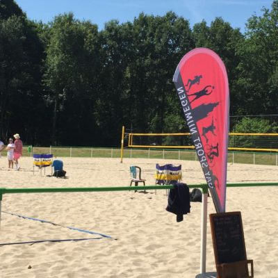 Pink summer sports volleybal toernooi